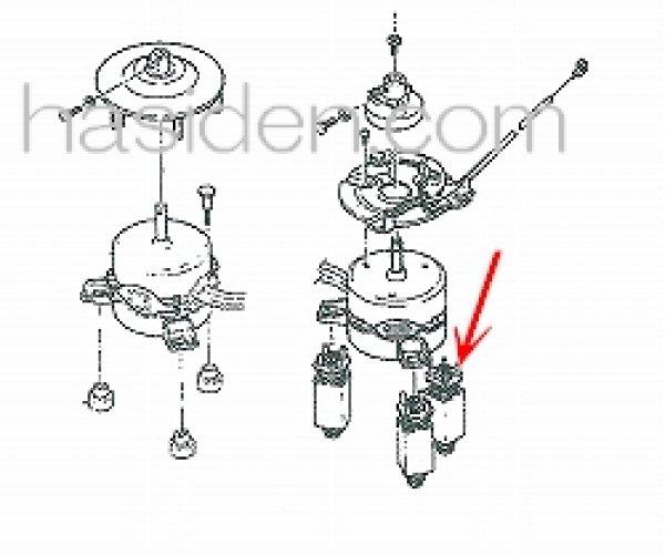 画像1: 日立洗濯機用防振ゴム (1)