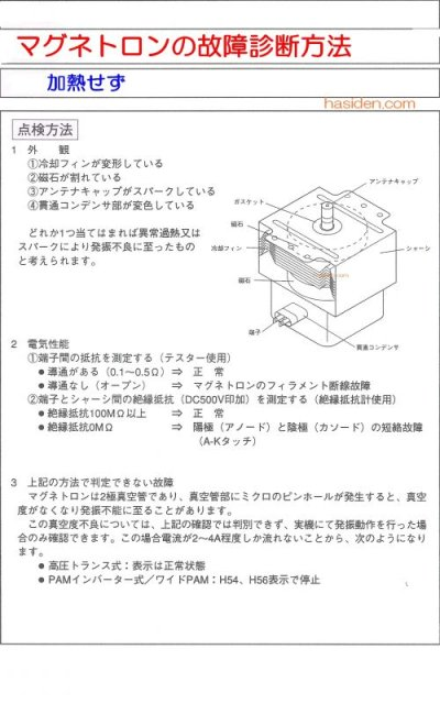 画像1: 電子レンジ用マグネトロン