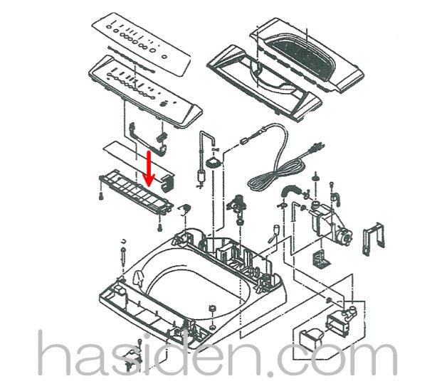 画像1: 洗濯機用・スイッチ基板 (1)