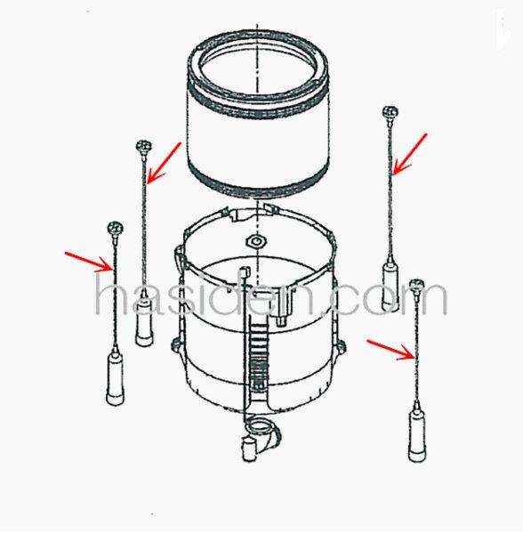 画像1: 日立洗濯機用・つり棒 (1)