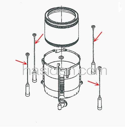 画像1: 日立洗濯機用・つり棒