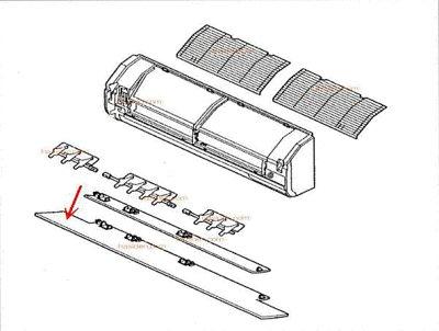 画像1: エアコン用風向板