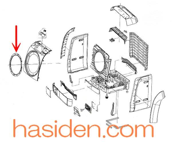 画像1: 日立洗濯機用・ドア (1)