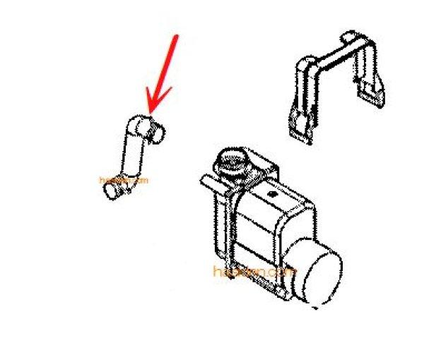 画像1: 日立洗濯機用・フロミズポンプ用 ジャバラホース (1)