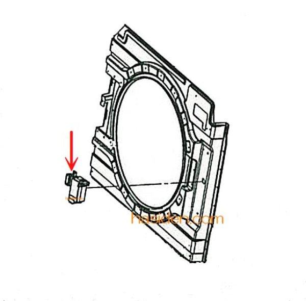 画像1: 日立洗濯機用・ドアロックスイッチ (1)