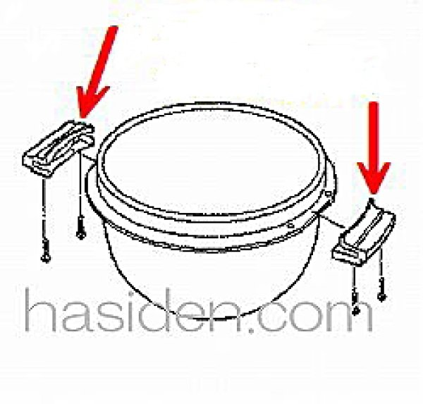 画像1: ジャー炊飯器用内釜用取っ手 (1)