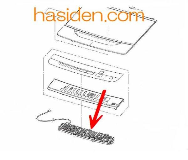 画像1: 洗濯機用・スイッチ基板基板 (1)